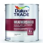Dulux Trade Weathershield Quick Dry Exterior Gloss Undercoat Pure Brilliant White